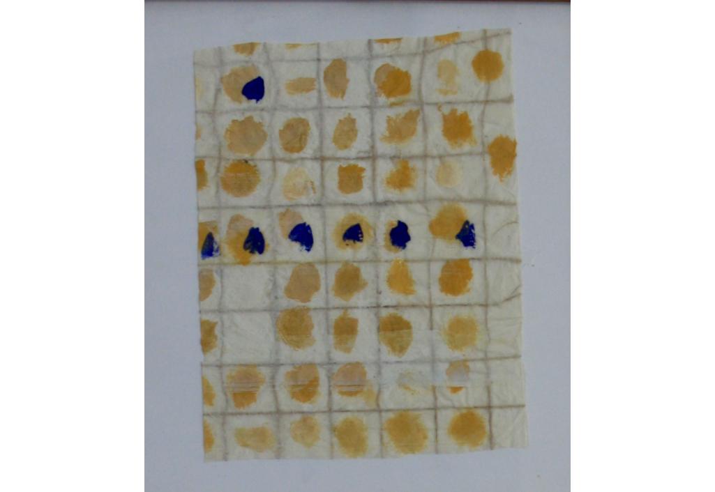 Composition jaune et bleu