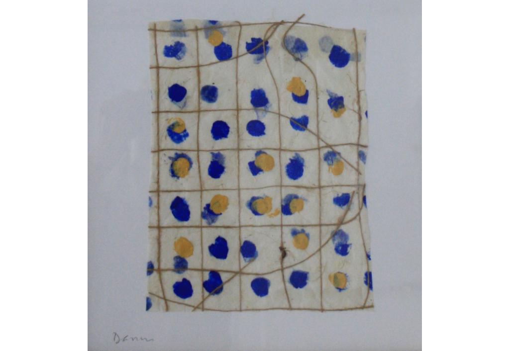 Composition bleu & jaune I