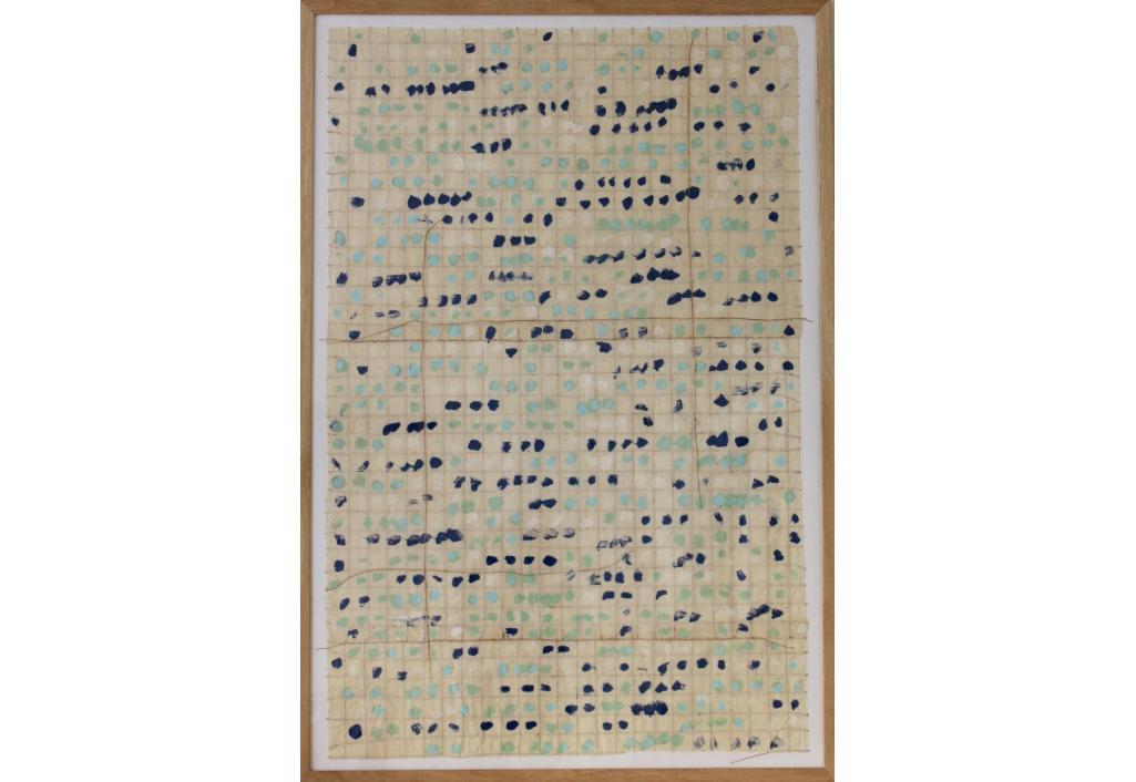 Franchissement des bords bleu et menthe