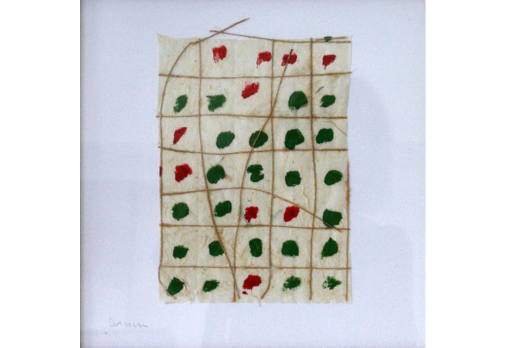 Composition vert-rouge