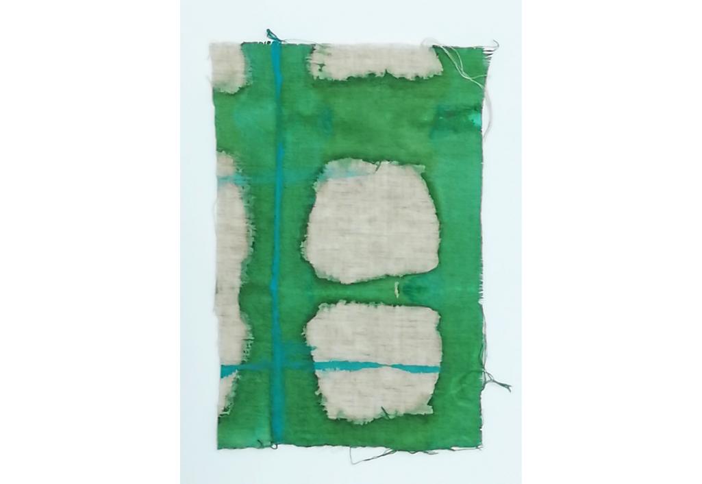 Tissu en Lin vert