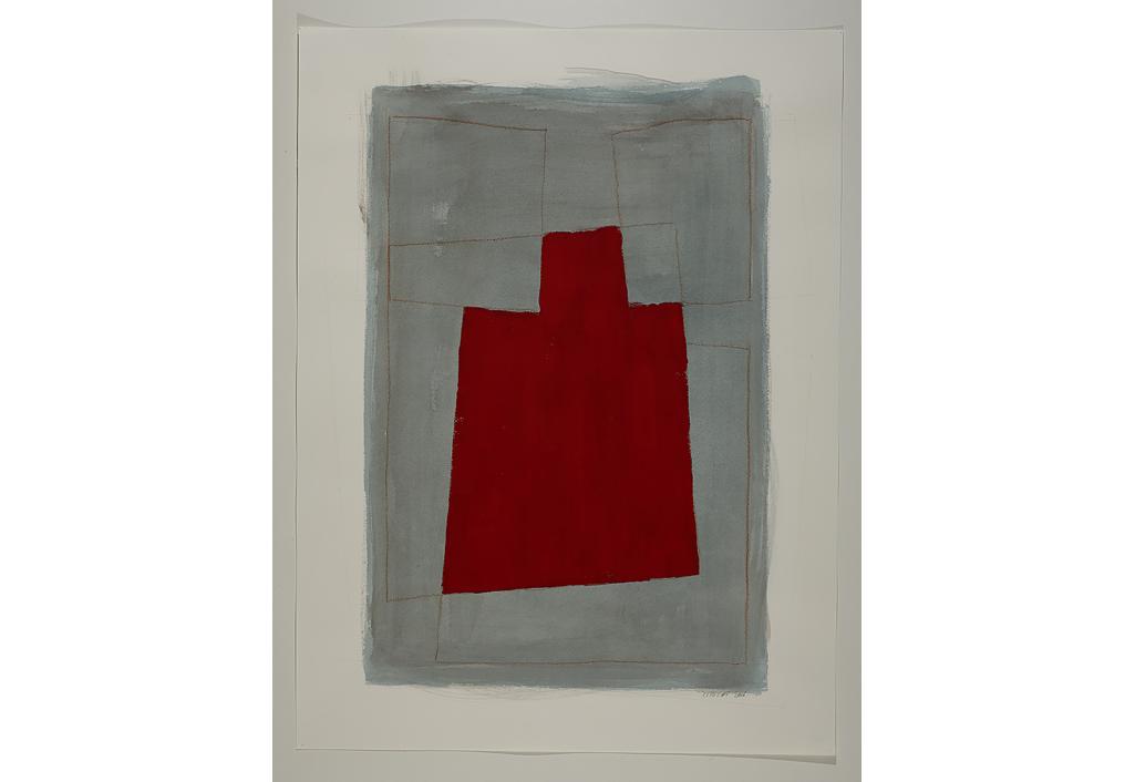 Série des Simulacres rouge et gris G.3