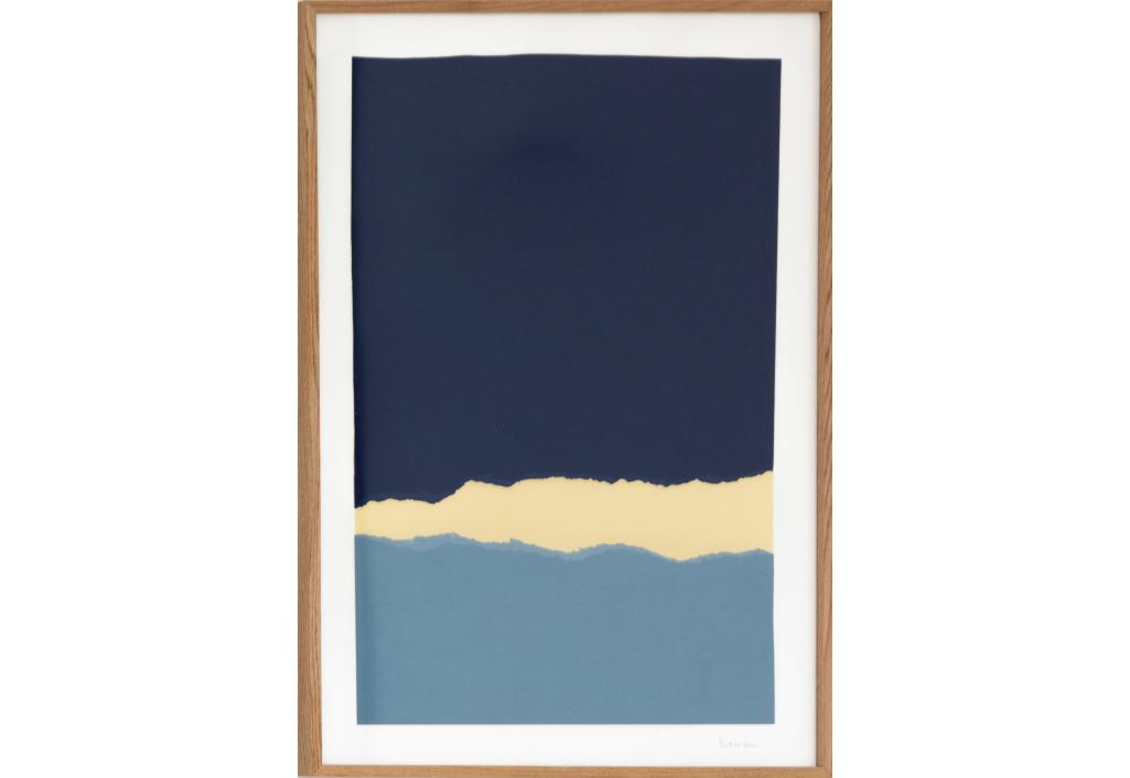 Papier Déchiré Grand Bleu
