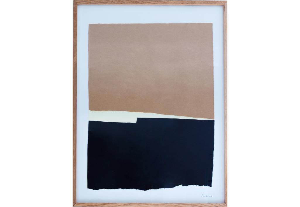 Papiers Déchirés Beige et Noir