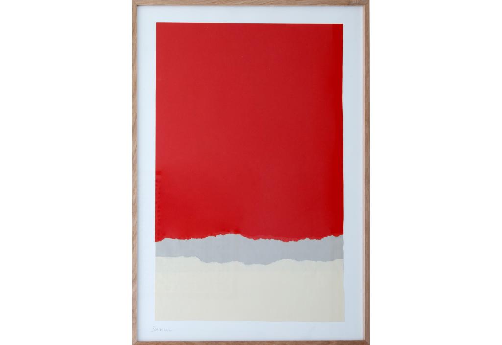 Papiers Déchirés Rouge et Gris