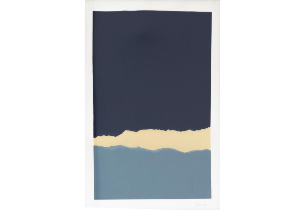 Papiers Déchirés Grand Bleu