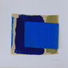 Collage bleu azur