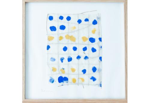 Composition bleu & jaune