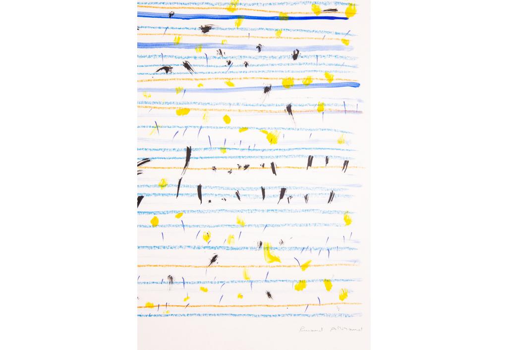 Partition jaune et bleu