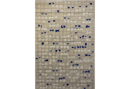 Lokta Bleu et blanc