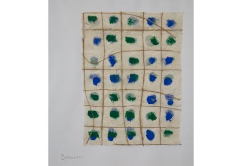 Petit lokta - Vert et bleu