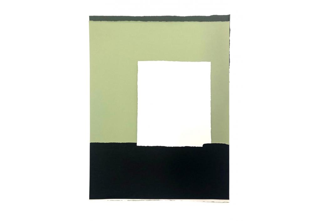 Papiers déchirés vert et blanc