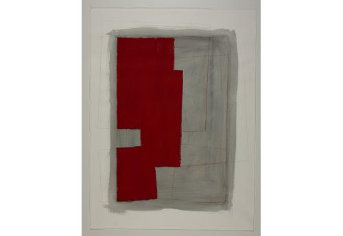 Série des Simulacres rouge et gris G.1
