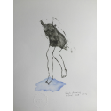 Beach drawing Oeuvre sur papier Laure Carré Zeuxis