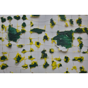 Sans titre - Vert jaune Edward Baran Oeuvre sur papier Zeuxis