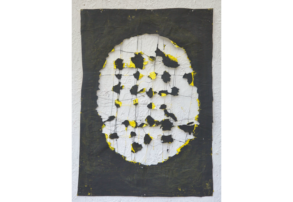 Ovale - Jaune et noir Edward Baran Artworks on paper Zeuxis