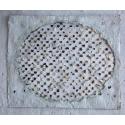 Ovale - Blanc, noir, doré Edward Baran Oeuvre sur papier Zeuxis