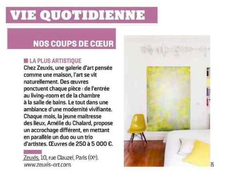 Zeuxis galerie d'art dans le parisien
