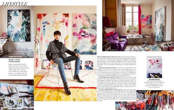 Florence Nerisson, une artiste Zeuxis dans le Marie Claire Corée