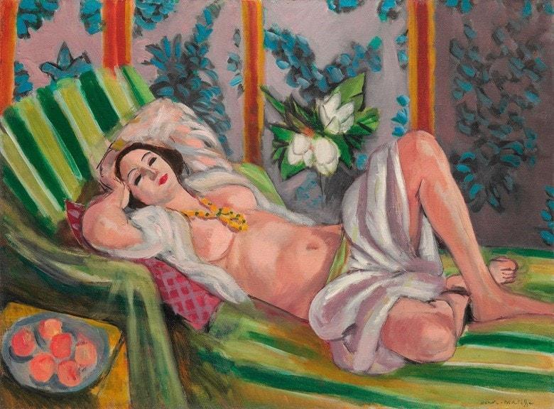 L'Odalisque couchée aux magnolias- Henri Matisse (1869-1954)