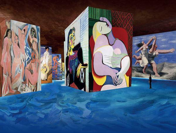 Zeuxis vous présente l'exposition Picasso aux Carrières de Lumières