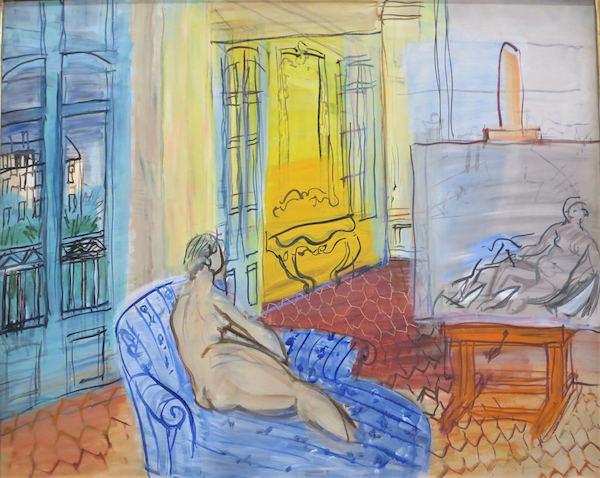 Amélie with Zeuxis galerie d'art présente l'exposition Raoul Dufy au musée Hyacinthe Rigaud