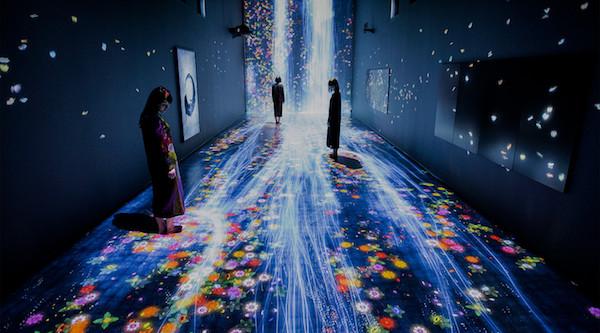 Zeuxis galerie d'art présente l'exposition du collectif teamLab au-delà des limites à la Vilette